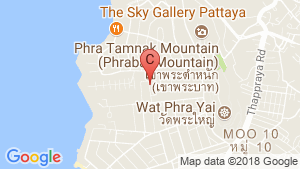 C View Residence Pattaya location map