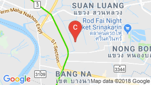 4 Bedroom House for rent in Bangkok near BTS Punnawithi location map