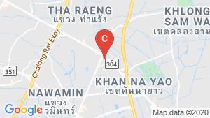 แผนที่สถานที่ ลุมพินี ทาวน์ รามอินทรา - นวมินทร์