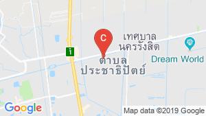 แผนที่สถานที่ ลุมพินี ทาวน์ชิป รังสิต - คลอง 1