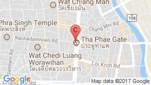แผนที่สถานที่  ให้เช่าทาวน์เฮ้าส์ 3 ห้องนอน ใน ท่าศาลา, เมืองเชียงใหม่