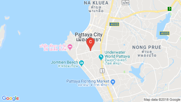 Marina Golden Bay Pattaya location map