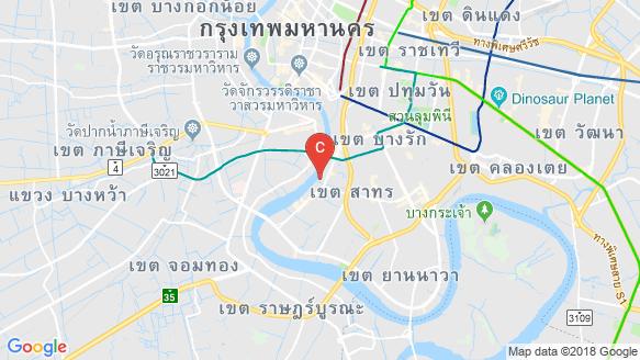 Four Seasons Private Residences Bangkok at Chao Phraya River location map