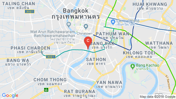 The River location map