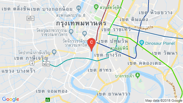 Magnolias Waterfront Residences Iconsiam location map