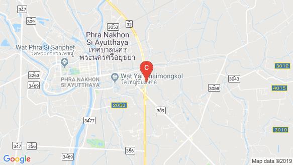 Groove Ville Ayudhaya 3 location map