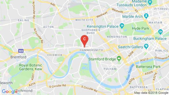 แผนที่สถานที่ Hammersmith