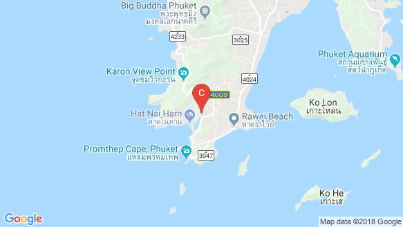 WYNDHAM Naiharn Beach Phuket location map