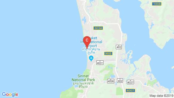 Radisson Phuket Mai Khao Beach location map