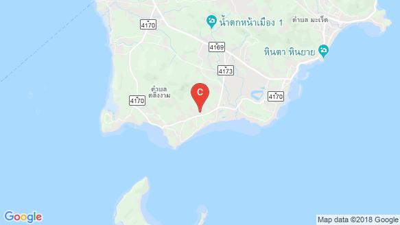 Pool Villa 18 Samui location map