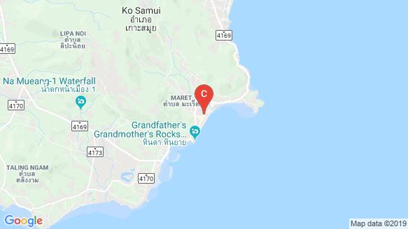 New Nordic's Koh Samui Lamai Water World location map