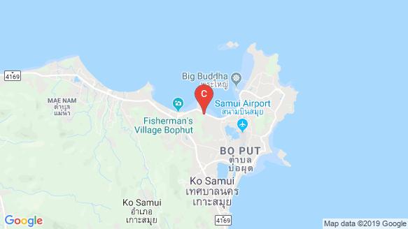 DUNE Hills Samui peta lokasi